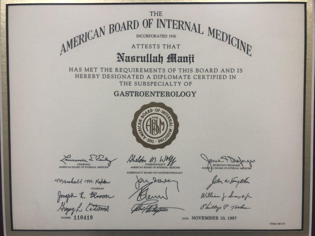About – Dr  Nasrullah Manji – Gastroenterology